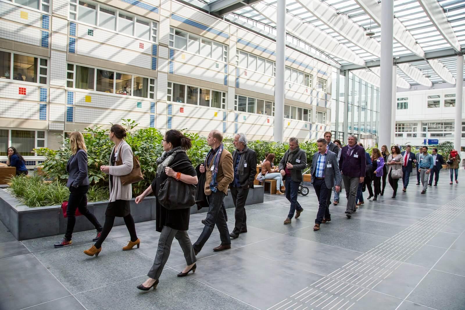 Rondleiding Erasmus MC 27 maart 2015 Beeld: Ronald Schlundt Bodien/EGM architecten